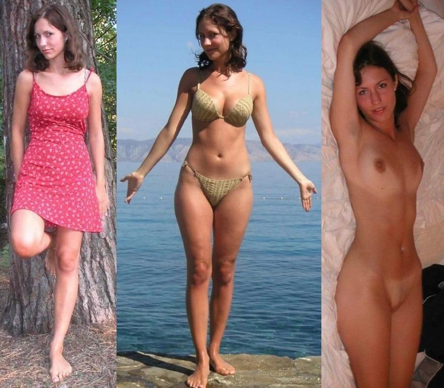 dressed undressed bikinis