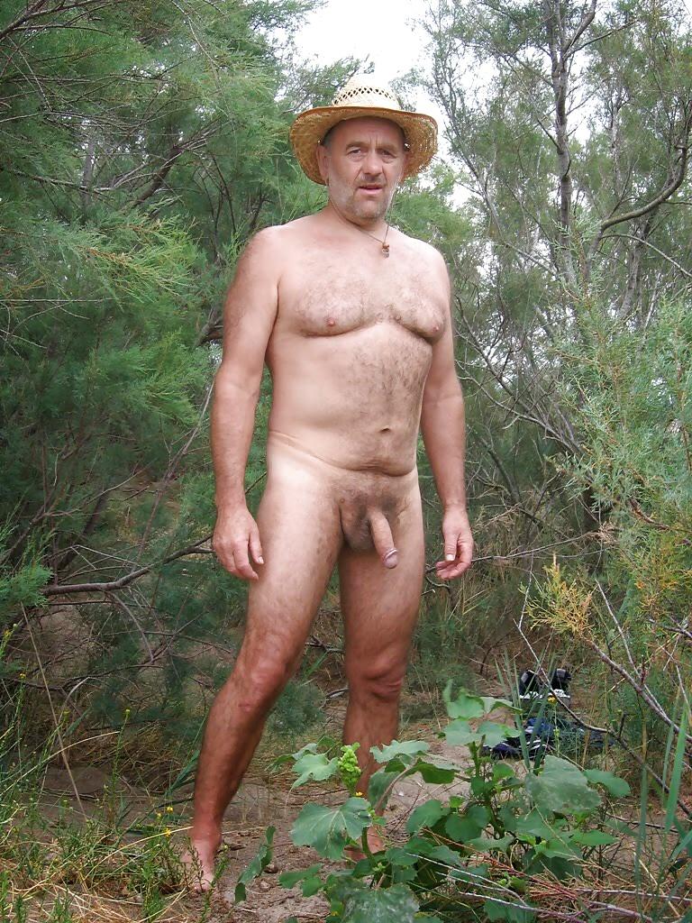 Naked Old Asian Man