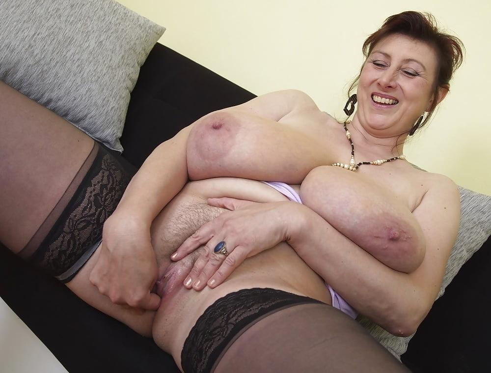 Grannies tits nylons