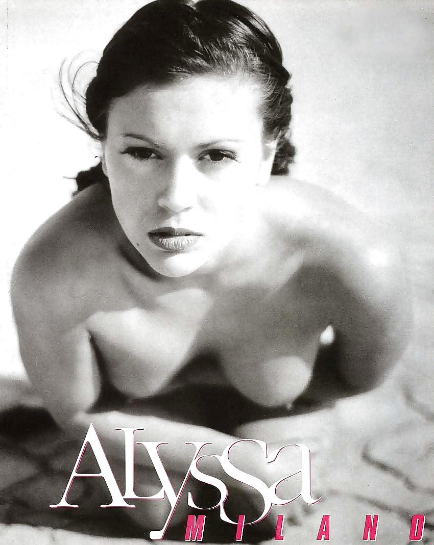 Alyssa milano nude in magazine naked