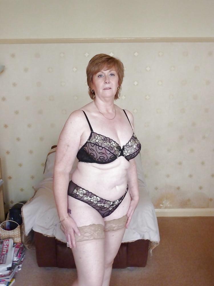 Nude granny lingerie