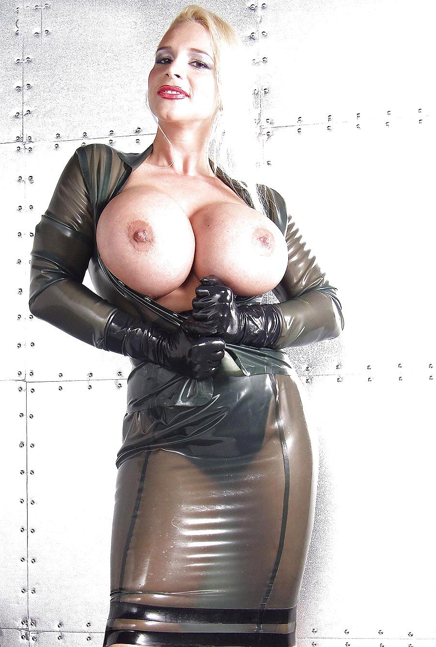 Latex femdom big tits