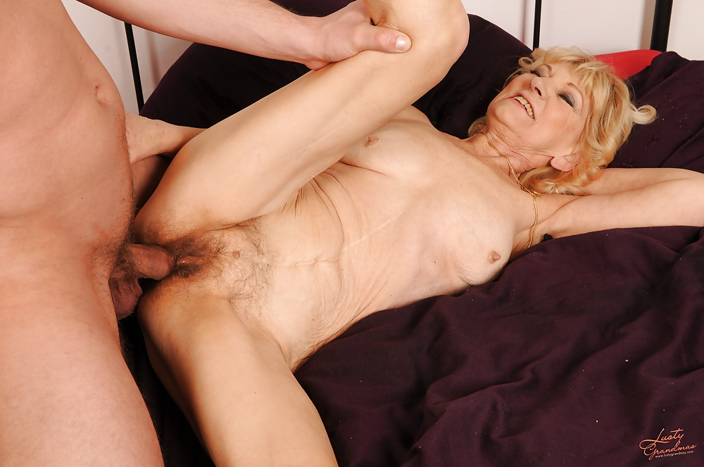 Hairy Grandma Licked And Fucked By Young Guy