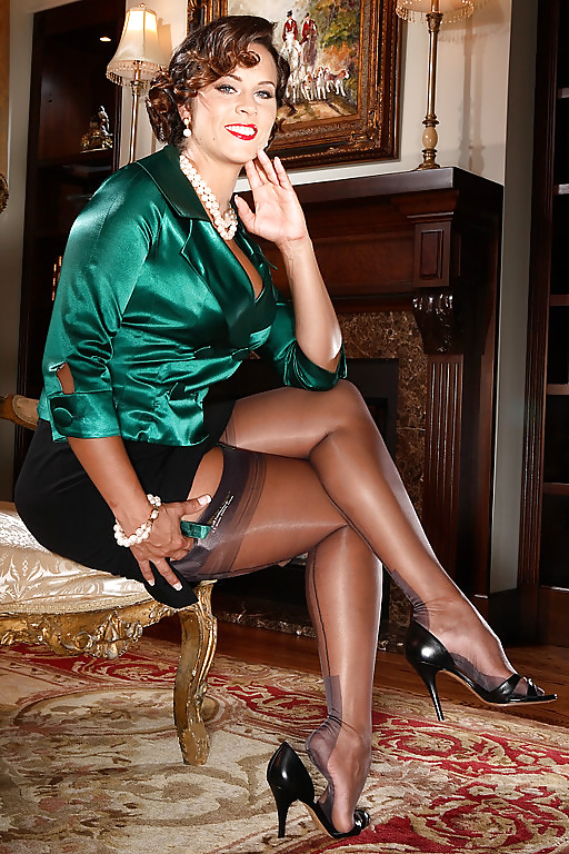 Fuck in fully fashioned stockings