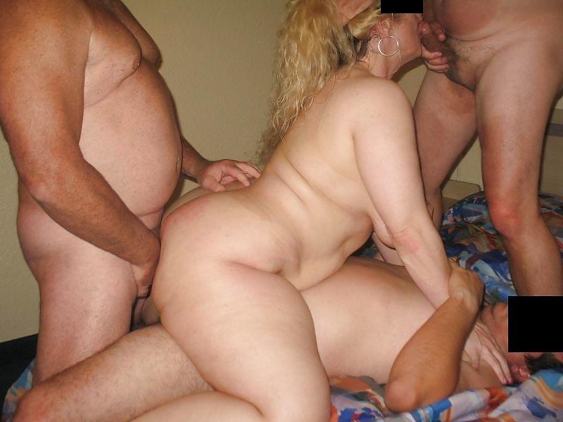 групповуха с толстой женой - 1