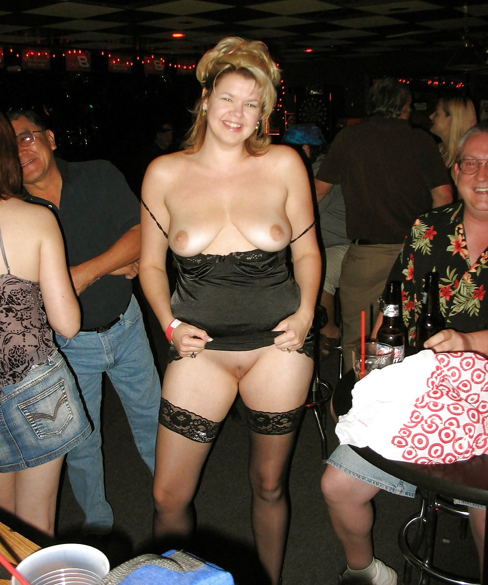 Wife flashes nude in public — 9