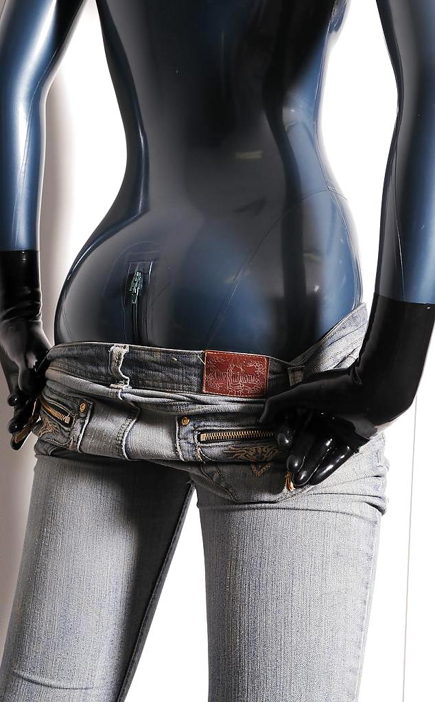 Latex rubber vintage slut