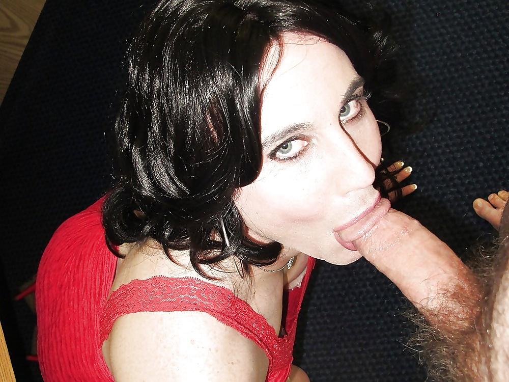 Sissy sucks cock