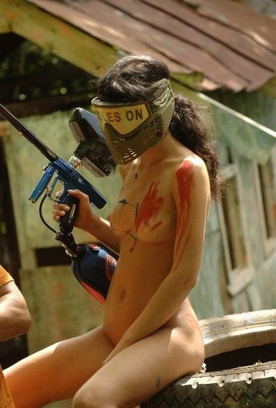 Nude babe paintball, sex intercourse scenes