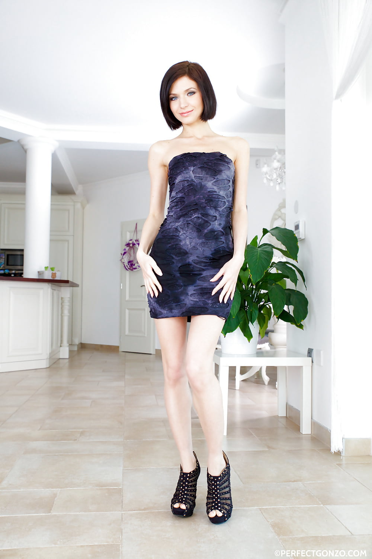 Black platform high heels-9876