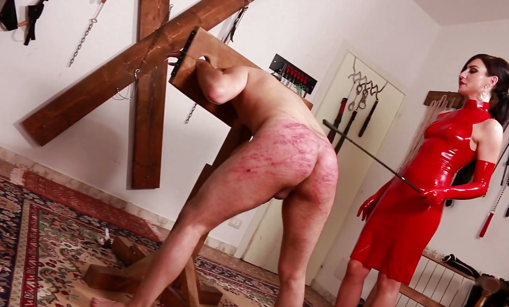 Cock cane or caning, small boobs naked female