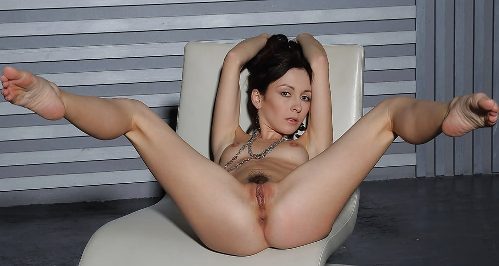 Naked skinny asian with legs open
