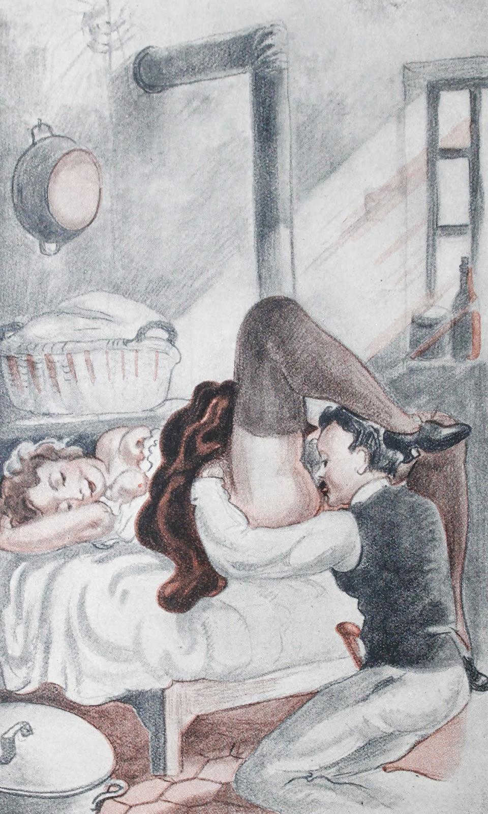 Эротические художественные произведения с иллюстрациями ретро