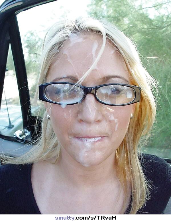 Фото девушек со спермой на очках, девушки на трассе связали парня