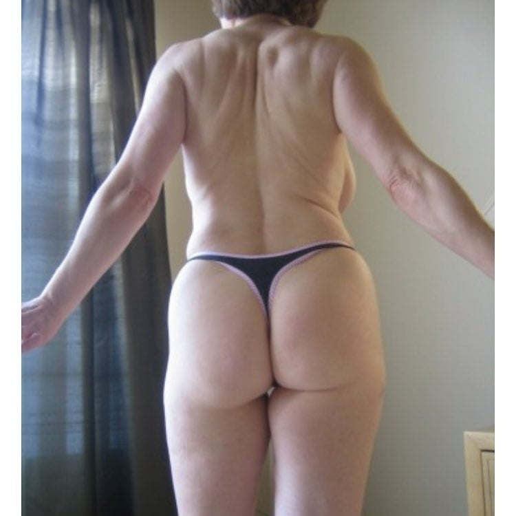 Mature in thong