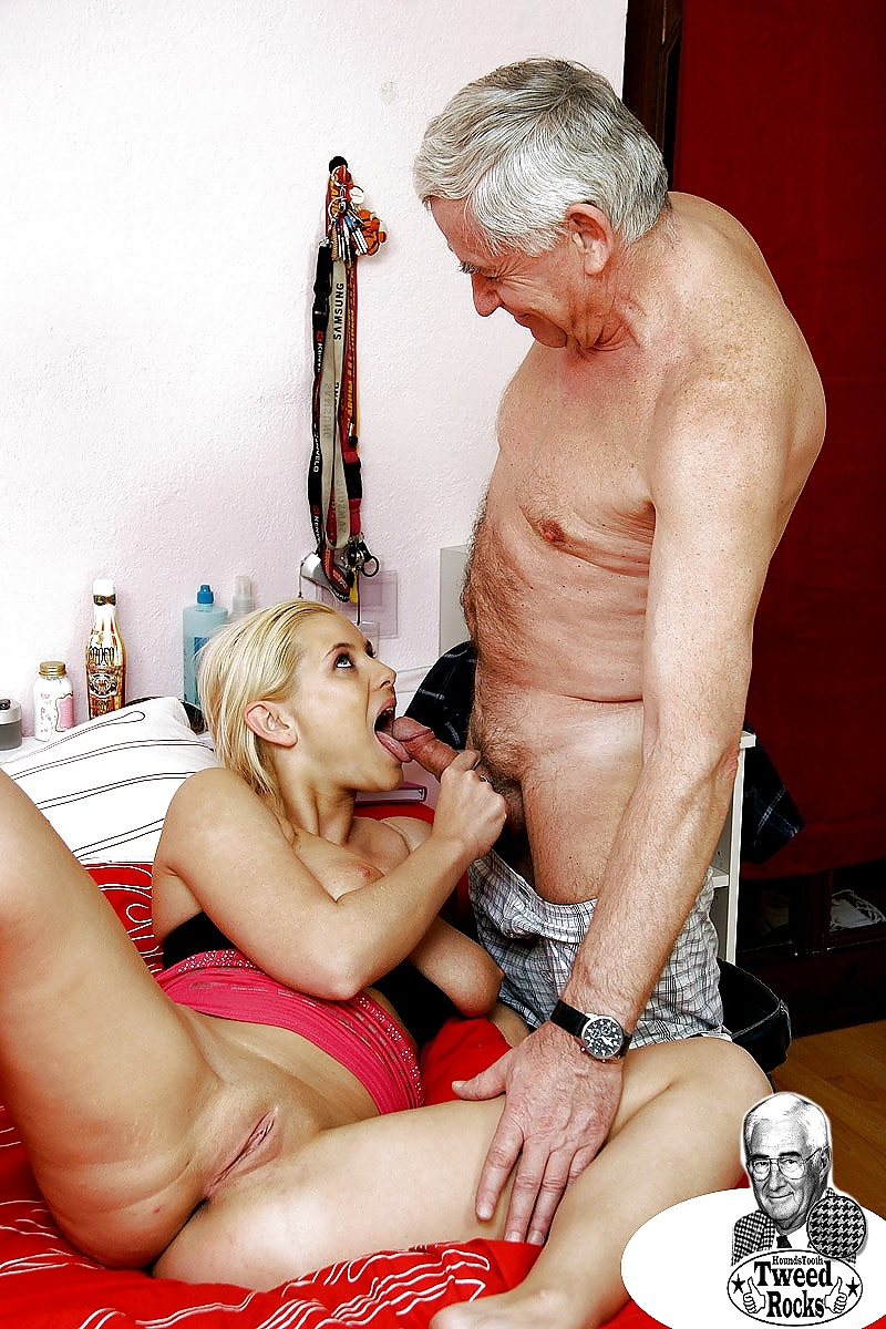 Young woman fucks older man