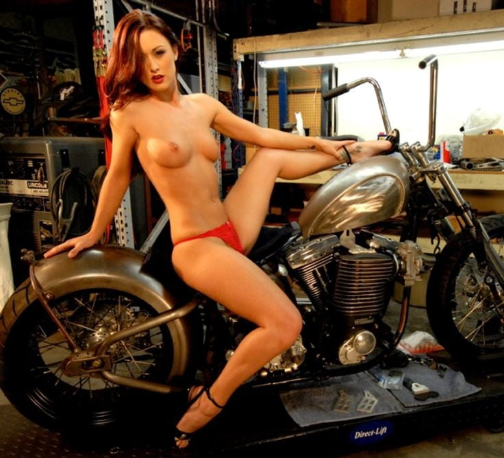 Nude biker babes old school — photo 14