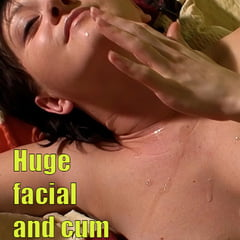 290 Huge Cumshot On Face And Tits