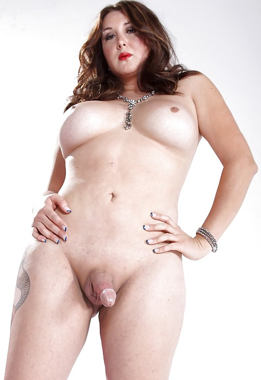 Gorgeous Shemale Jerking Her Fat Cock
