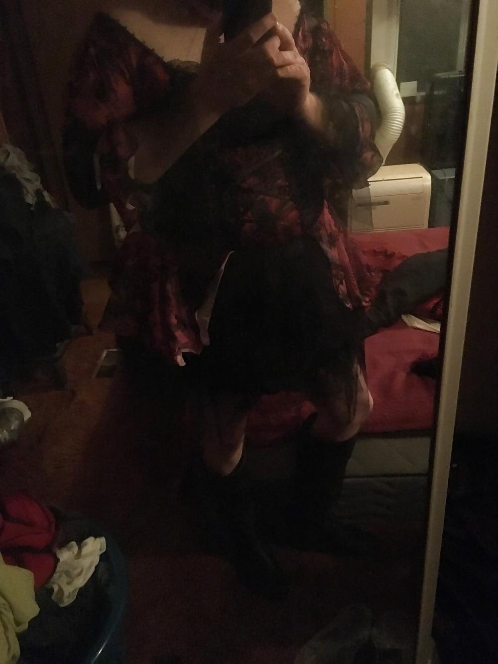 Plus size purple witch costume-4293