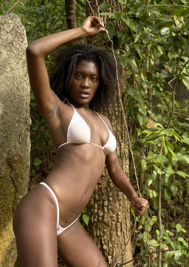 Beautiful young naked black women