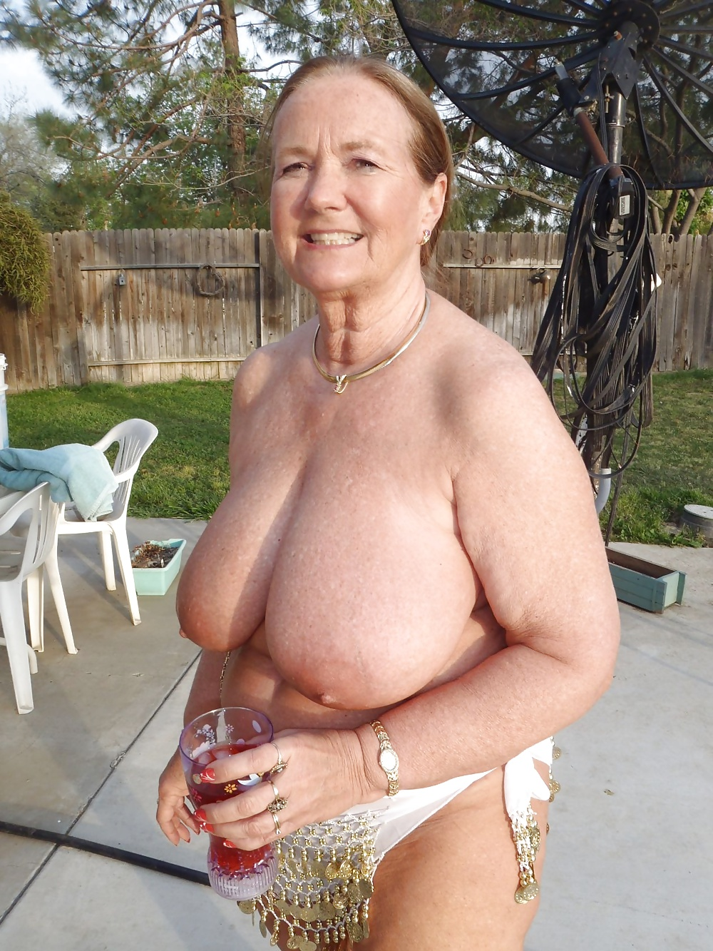 Old Granny With Big Tits