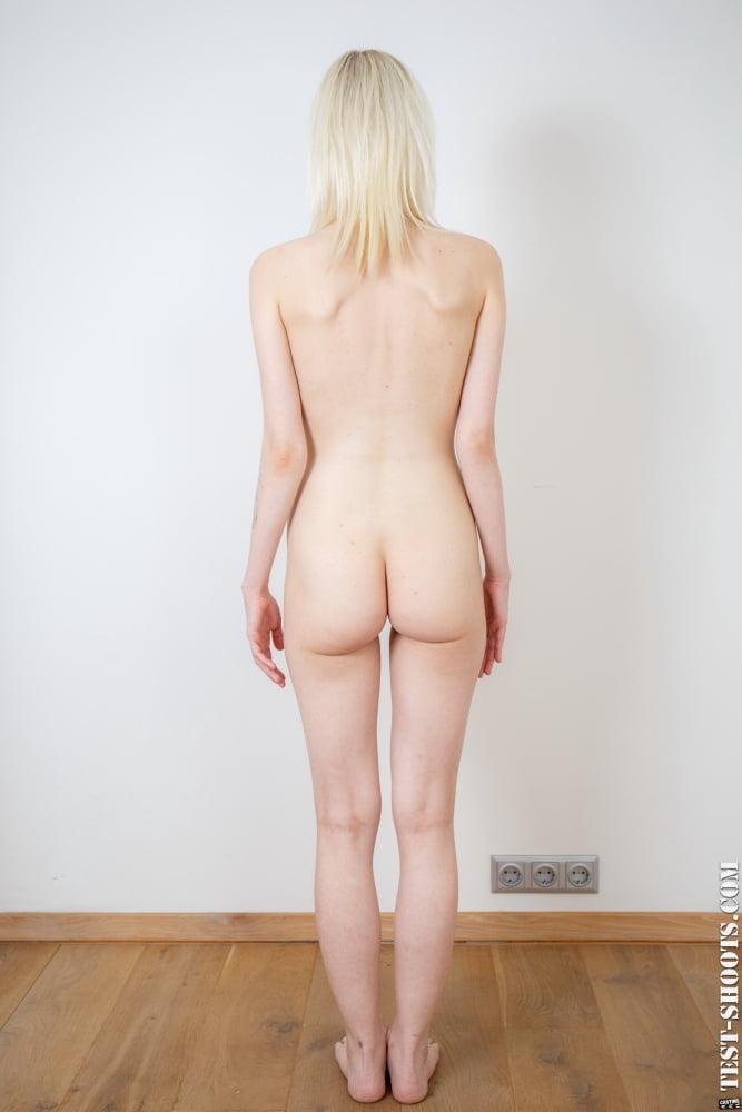 Ingrid Swedish skinny teengirl poses naked in nude casting - 16 Pics