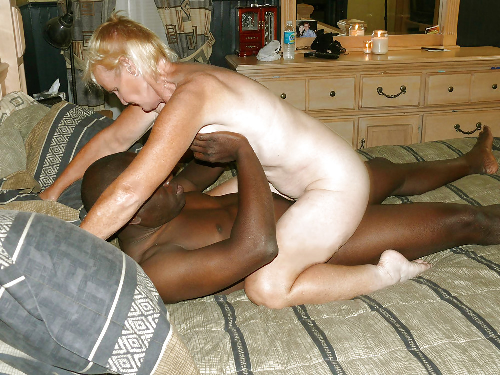 Older wife enjoys sucking and fucking a horny black cock