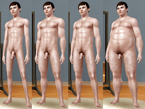Nude male sims skins