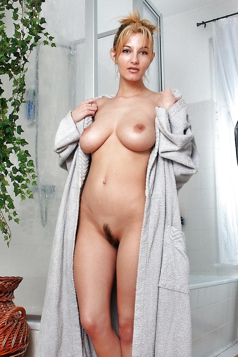 Teen bathrobe nude