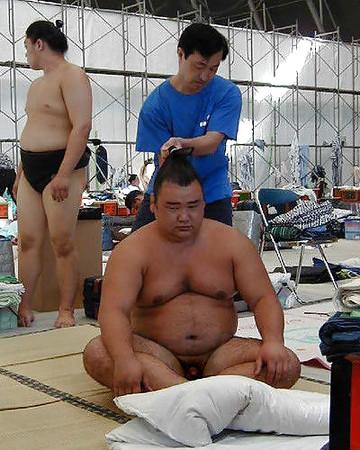 Naked sumo wrestler