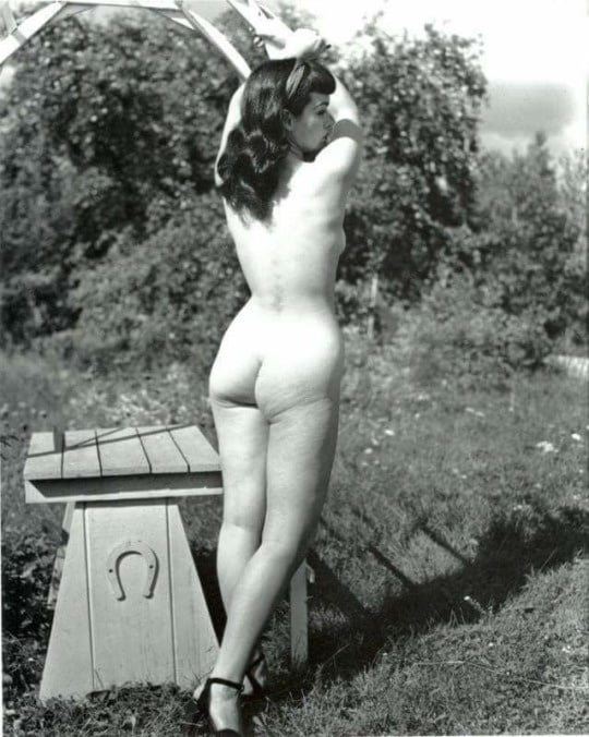 Bettie page nude photograph by l smith