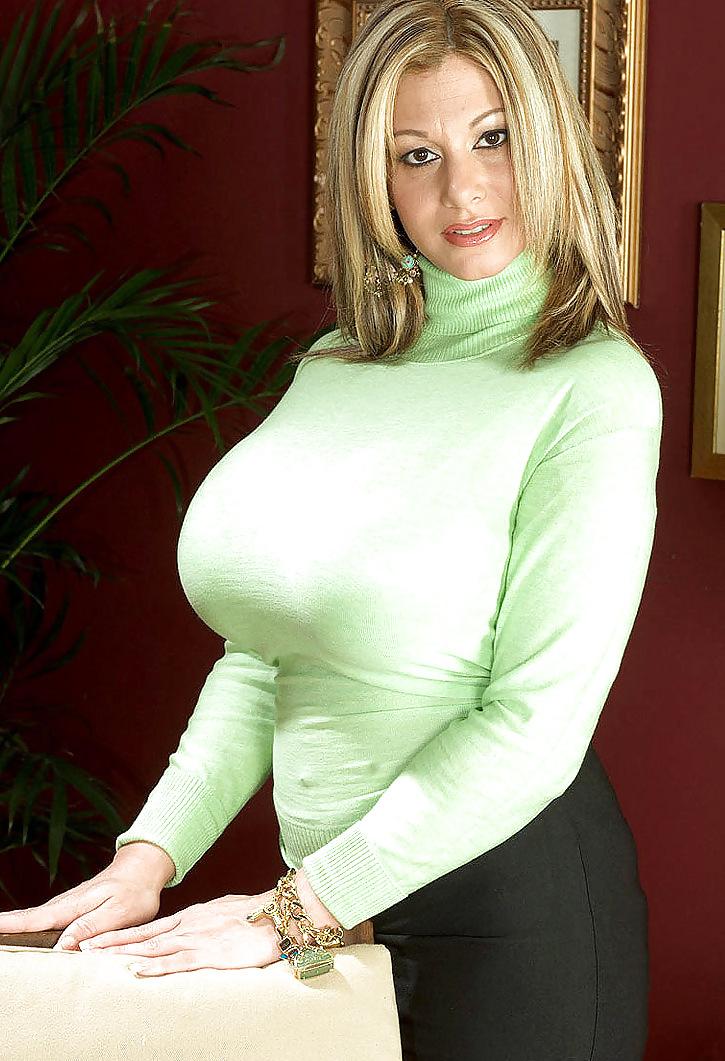 Busty milfs in sweaters