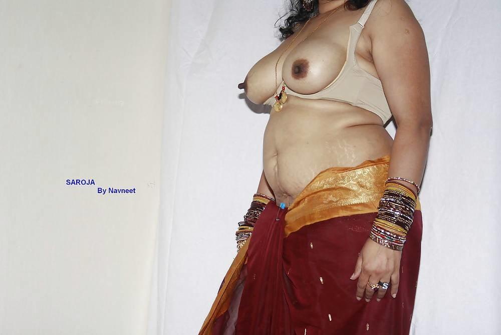 South Indian Aunty Im Saree