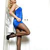 1-2-15 sheer black pantyhose blonde