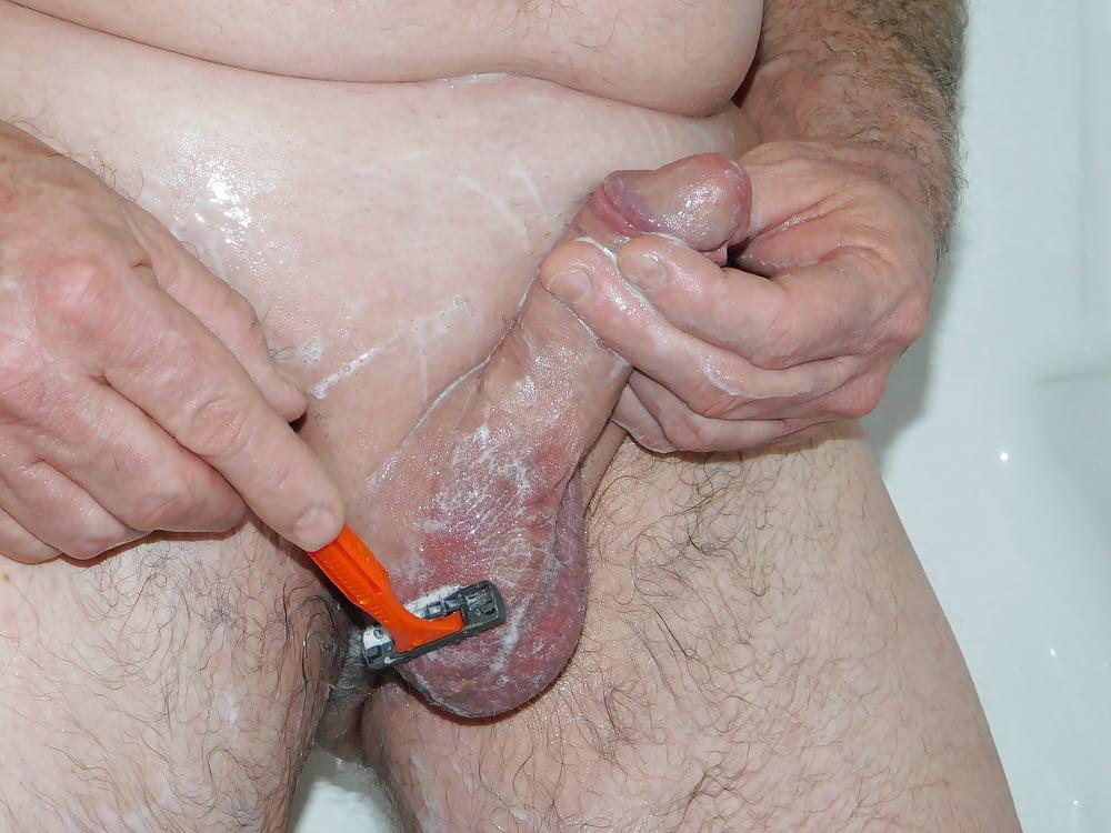 Eight Cfnm Scenes Of Women Waxing Shaving Naked Men's Asses, Cocks, Balls