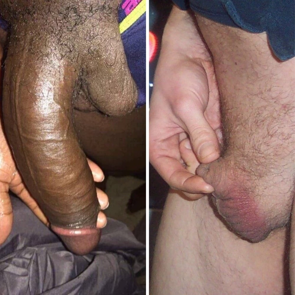 Black white cock compare
