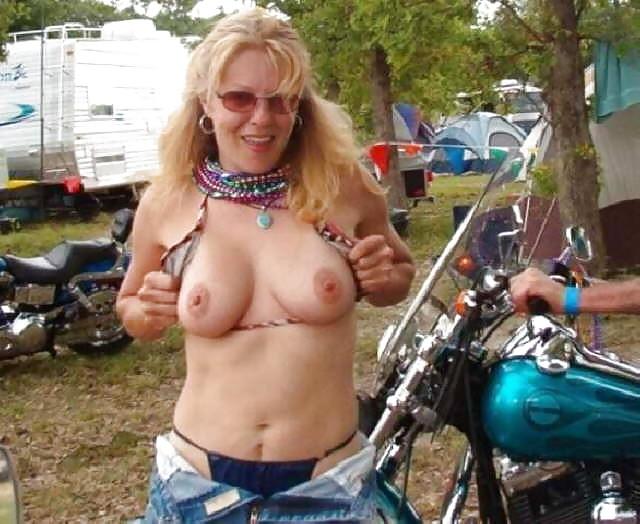 Sturgis naked biker bitch thong tenn