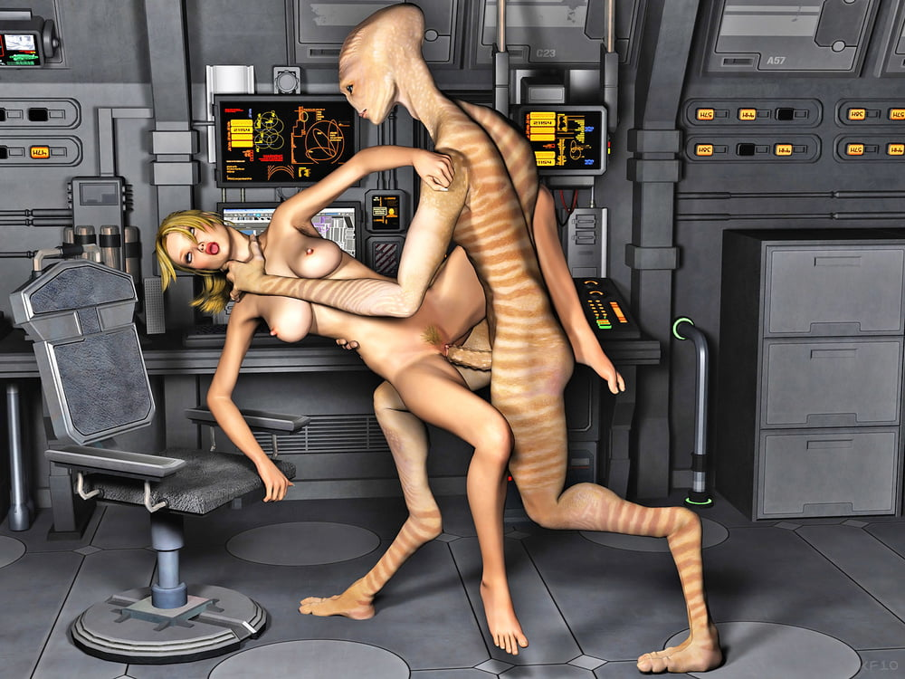 Bonking adamant sex with aliens blonde onboard of space shuttle