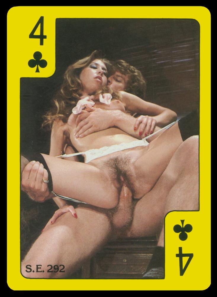 Card playing porn star