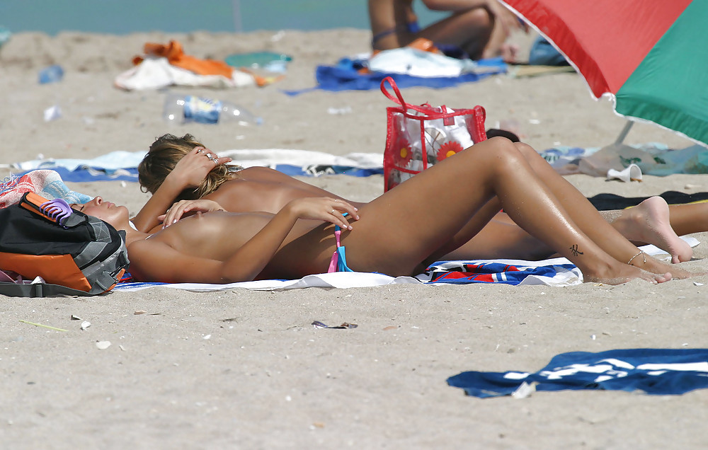Beach small tits Small Tits