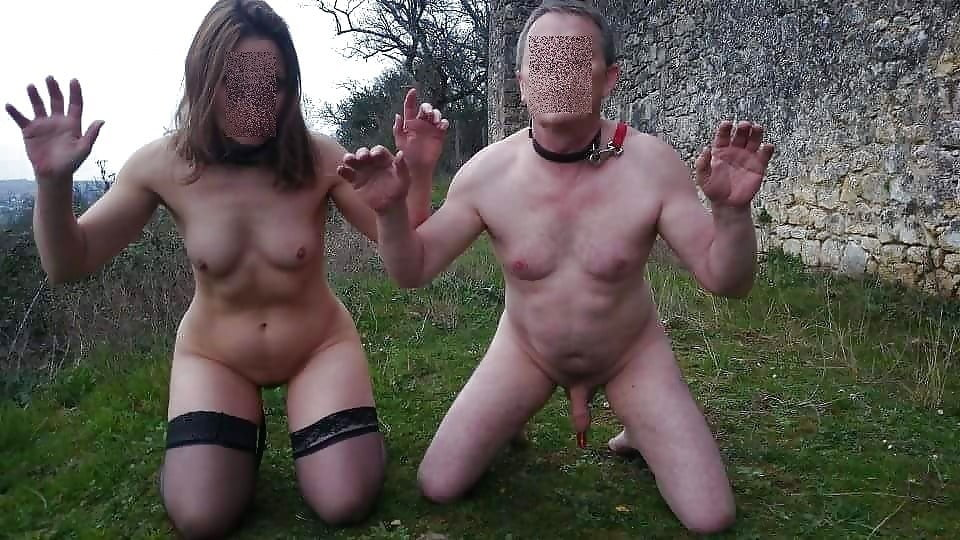 Black and white bdsm couple