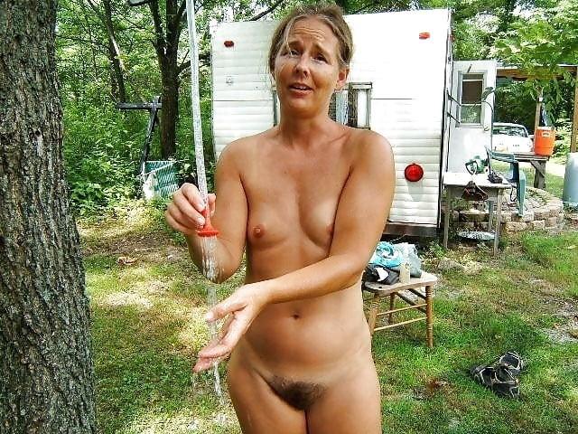 Nudist embarrassed