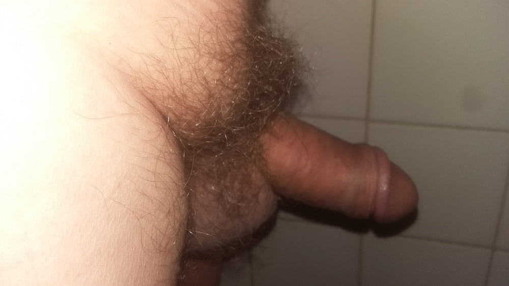 Hairy uncut penis
