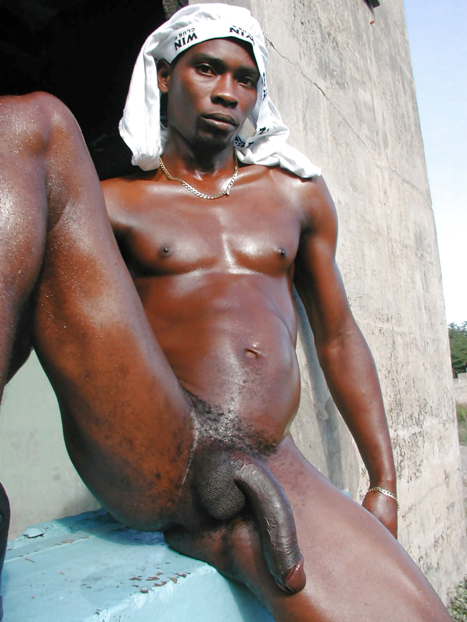 Nude black man with big dick