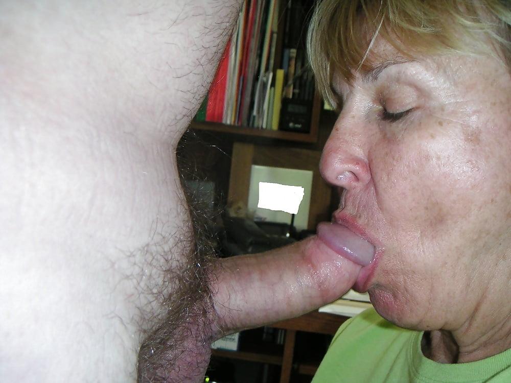 Mature Granny Sucking Boys Cock