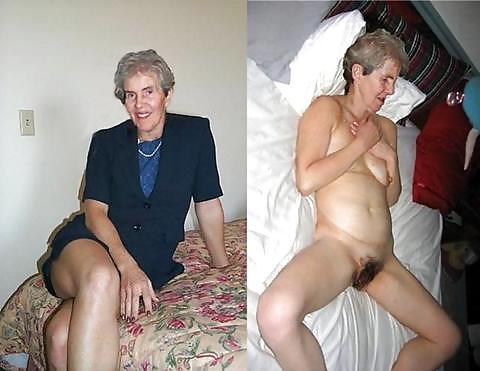 Fotos de mujeres vestidas y desnudas