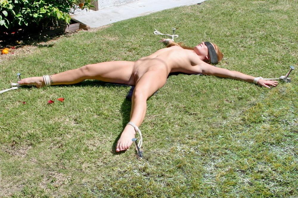 Naked Female Slave Nude Mature Women Tied Outside Bondage Outdoor Savery