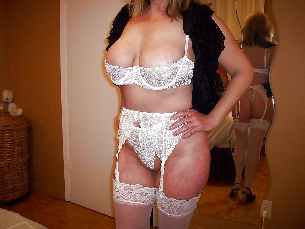Hot Blonde Milf In Lingerie And Stockings