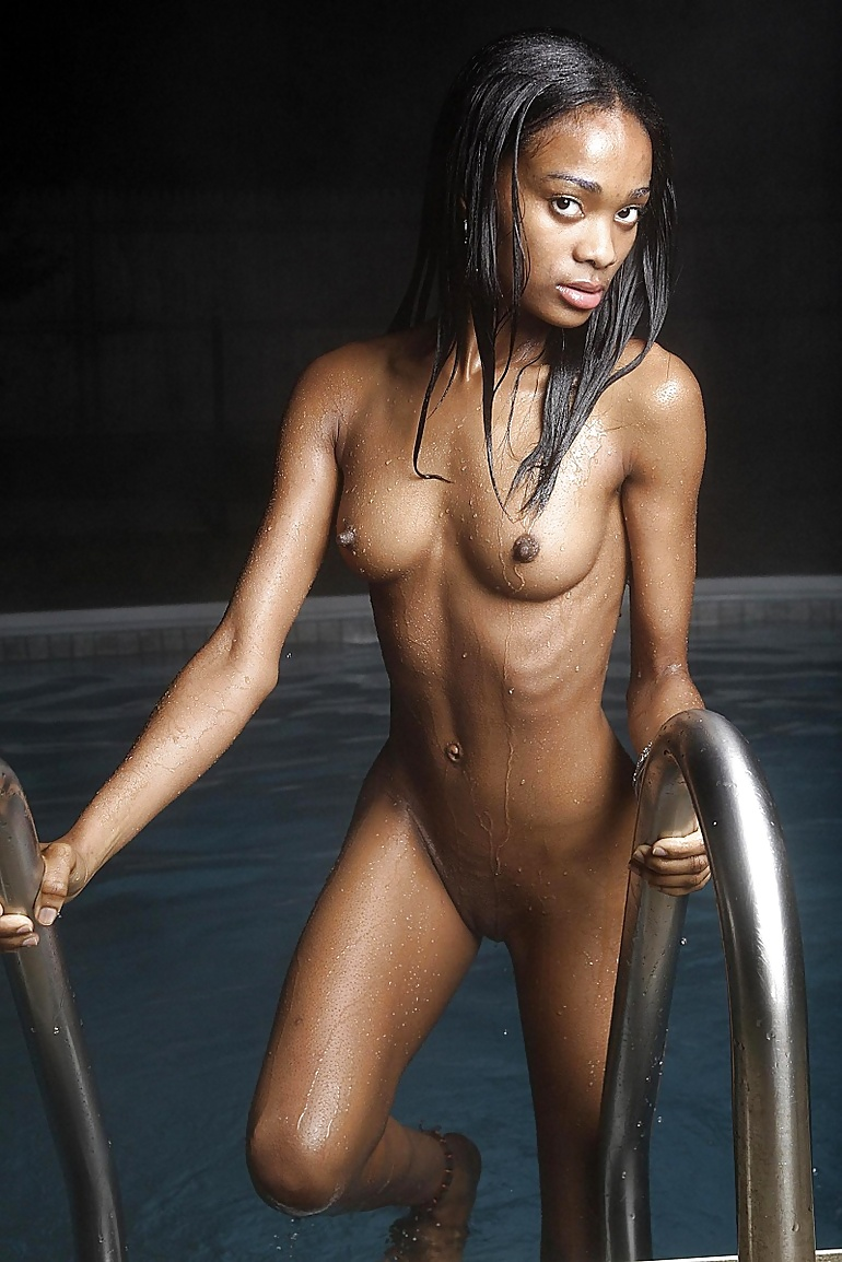 Black Slut Stripping Naked And Spreading